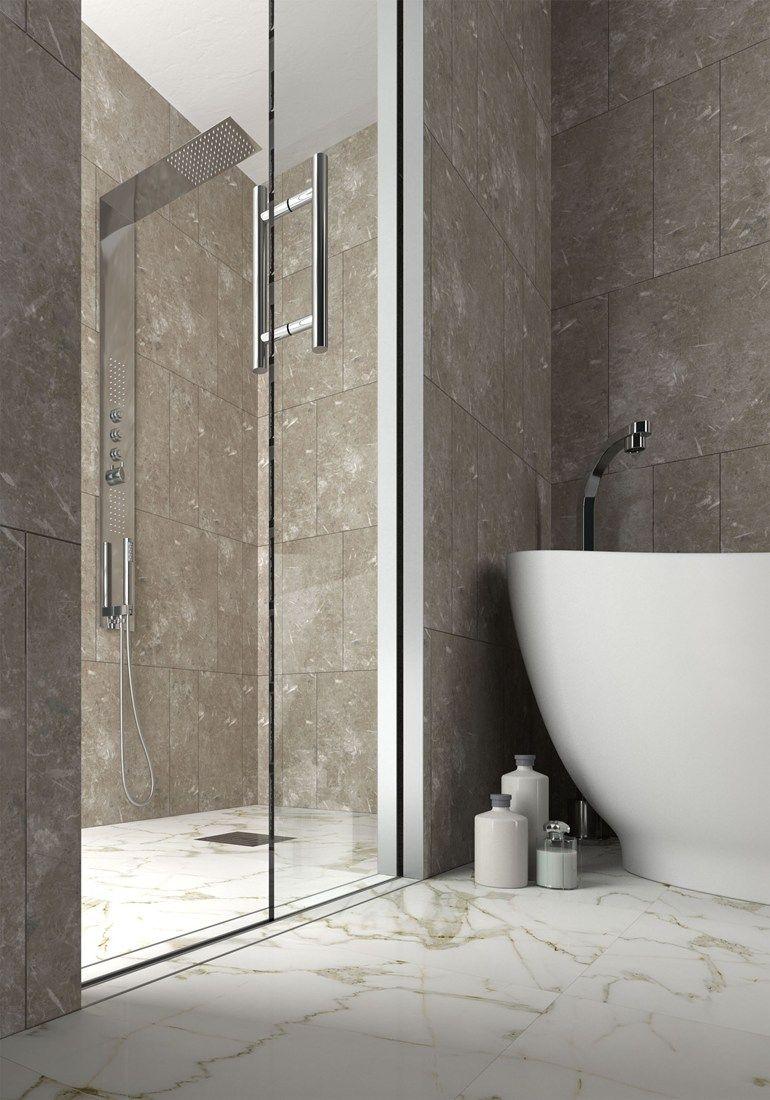 Porta scorrevole interno muro per box doccia ESSENTIAL DOCCIA ...