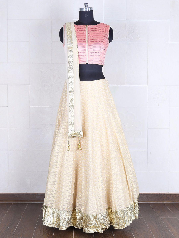 Raw silk wedding dress  Pink Silk Ready Made Lehenga Choli View more collection at