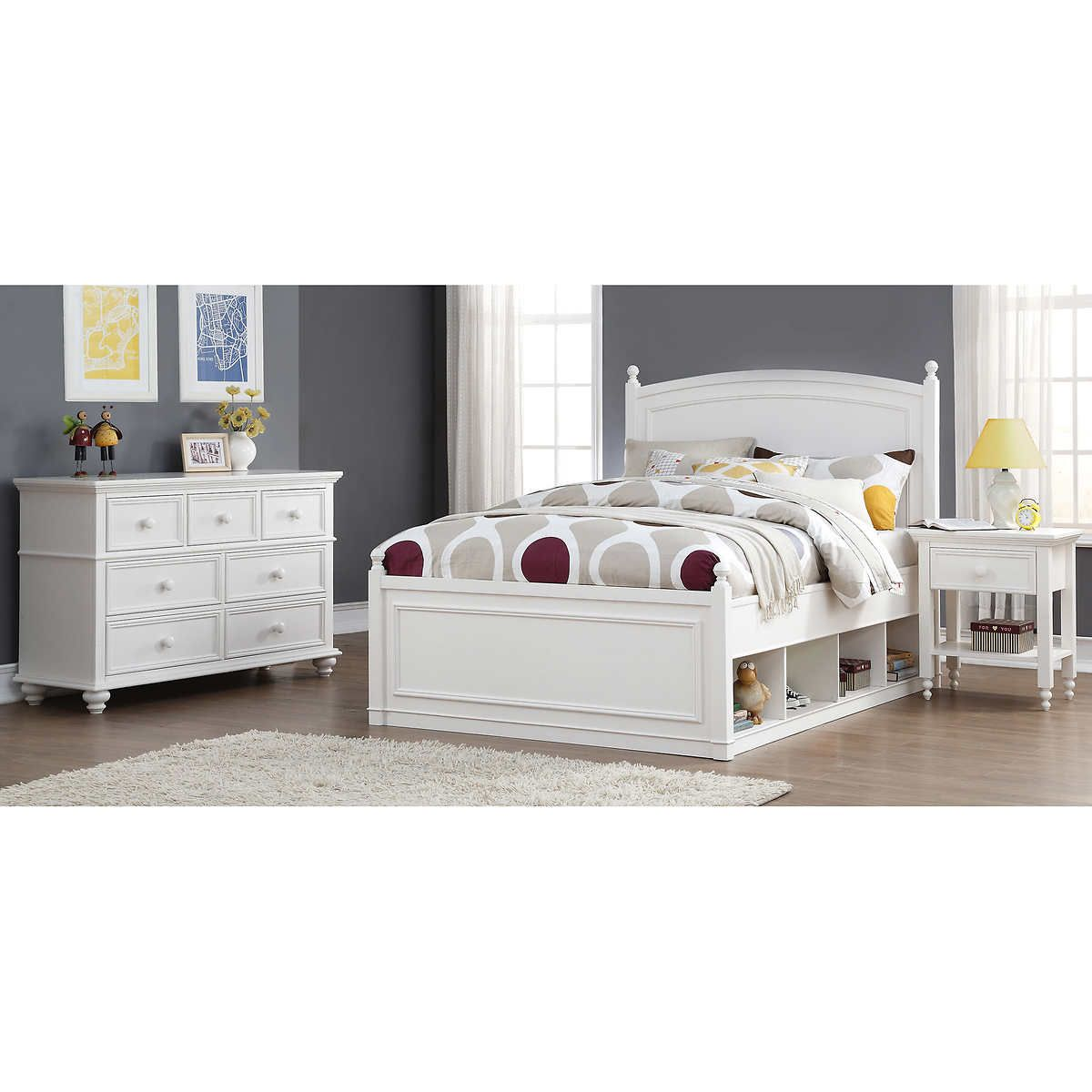 bed product gardner piece zoey full at from set white comforter furniture
