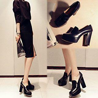 Chunky-Heel Platform Loafers | Platform