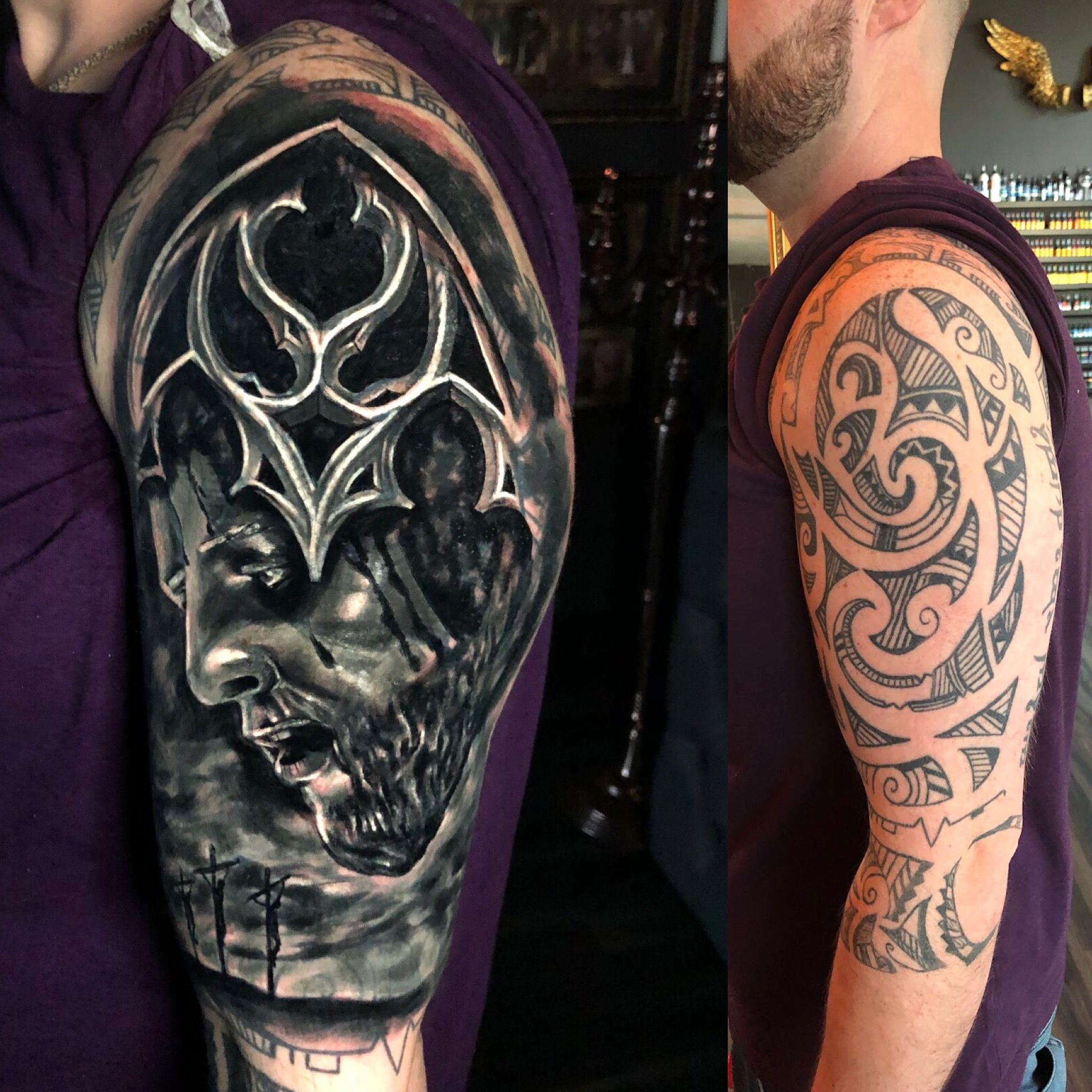 Cover up tattoo by Seb. Limited availability at Redemption