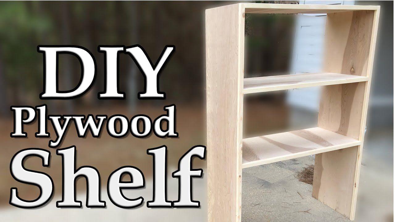 DIY Plywood Shelves using Pocket Holes 1000 in 2020
