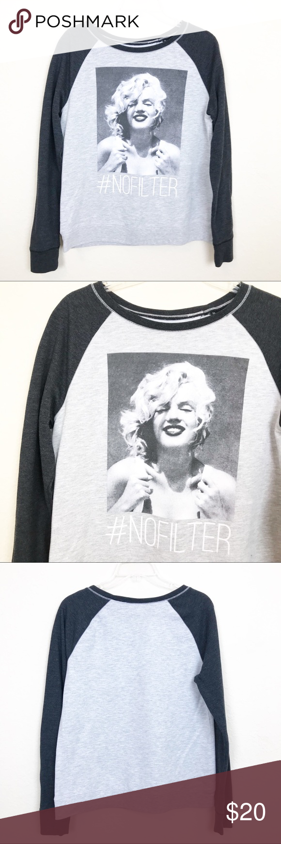 """f01624cb696 Marilyn Monroe Graphic Crewneck Sweatshirt Large Marilyn Monroe Graphic  Crewneck Sweatshirt Size large """" Nofilter"""