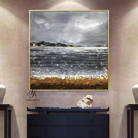 Gold Coast Original Painting  Wall Art  Textured  Acrylic 8x10