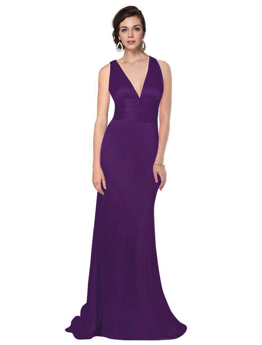 Long Purple Bridesmaid Dresses 2