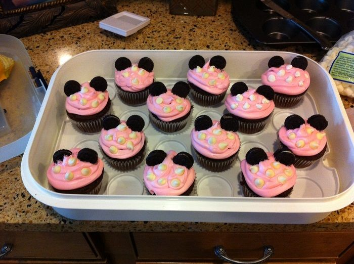 Minnie mouse 1st birthday party decorations cupcake  Nora First ...