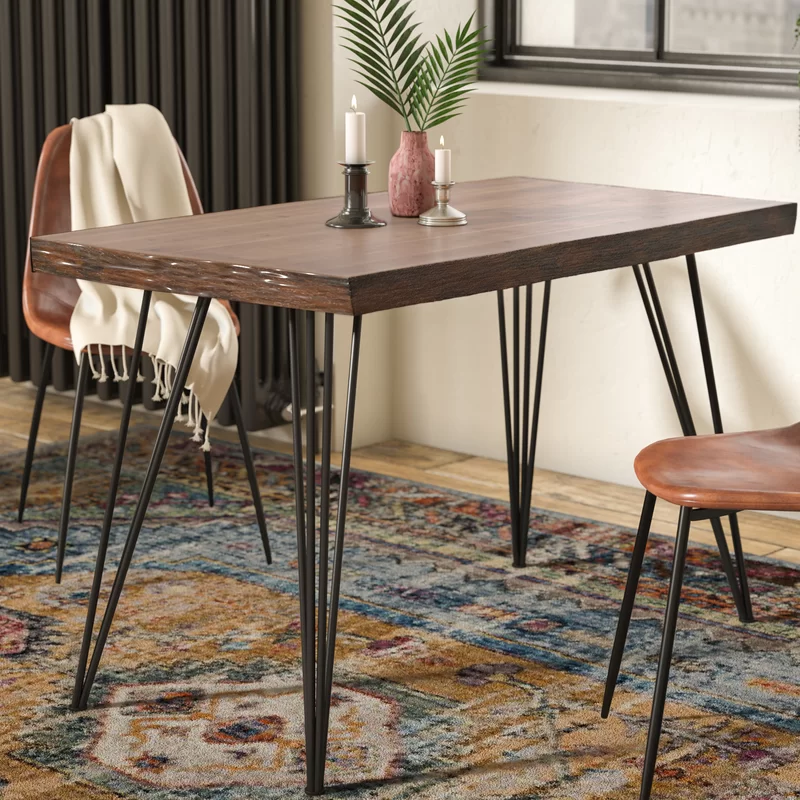 Caleb Dining Table Dining Table Dining Table In Kitchen Hairpin Dining Table