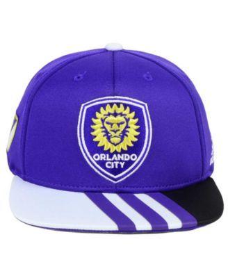 best loved 3dfc5 e8ec7 adidas Kids  Orlando City Sc Authentic Snap Cap - Purple Adjustable