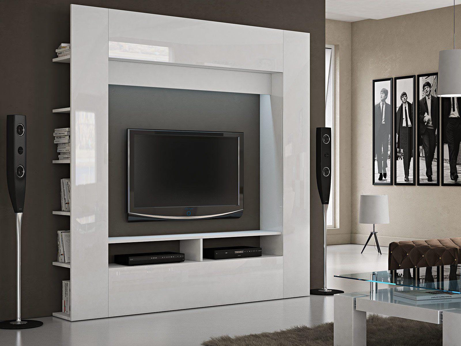Labi Möbel TV Wand Medienwand Syla: Amazon.de: Küche & Haushalt ...