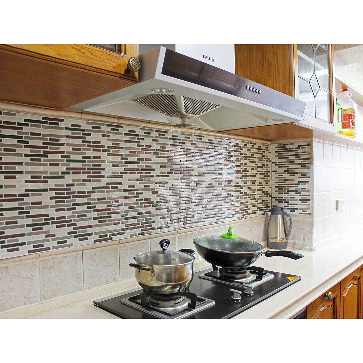 Fancy fix vinyl peel and stick decorative backsplash kitchen tile fancy fix vinyl peel and stick decorative backsplash kitchen tile pack of 4 sheets doublecrazyfo Images