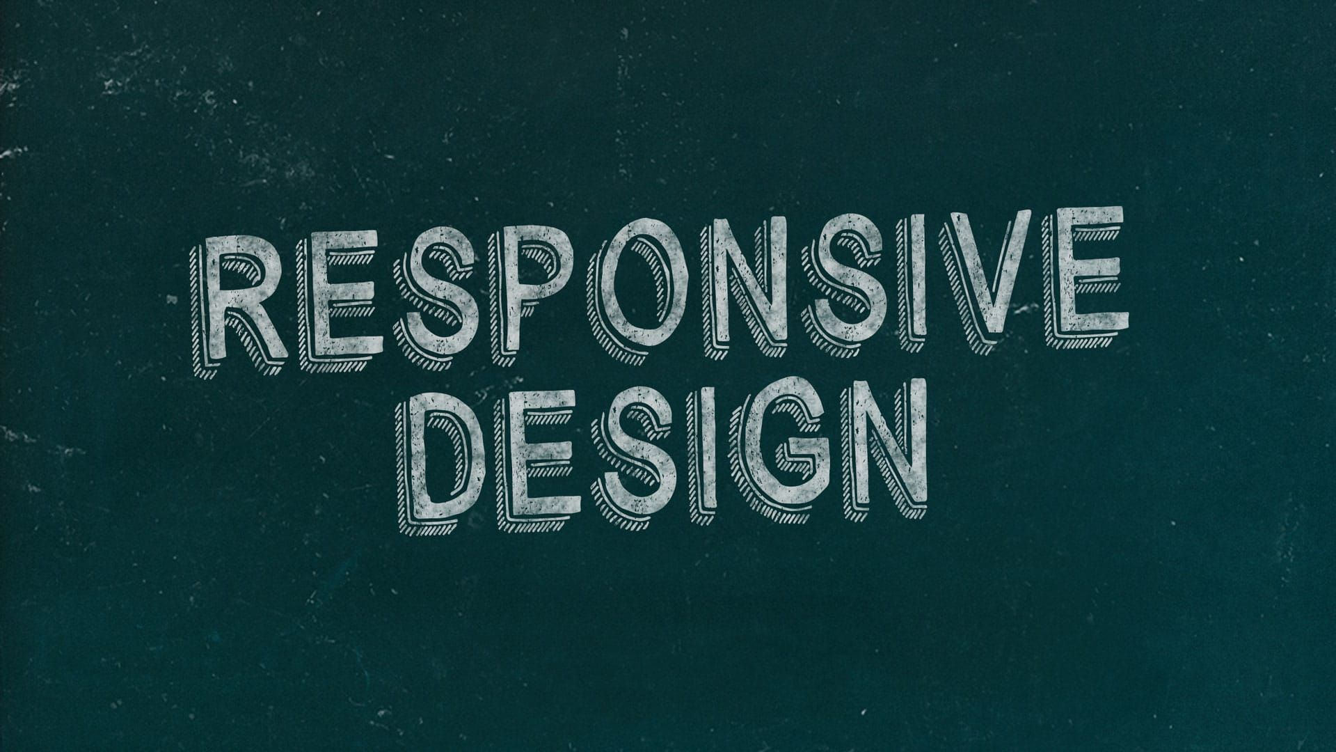 Responsive Design Chalkboard Marketing Slide Free Marketing