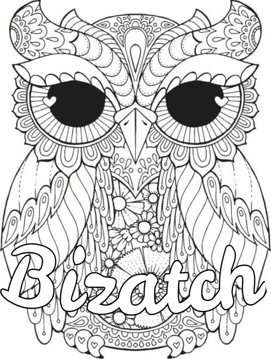 Pin By Ceciley Marlar On Swear Words Coloring Pages Owl Coloring Pages Adult Coloring Pages Printable Coloring Pages