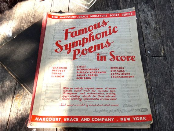1938 Music Book Harcourt Brace Miniature Score by MaxsUniquities
