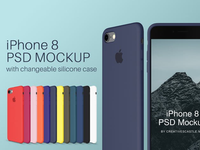 Download Iphone 8 Psd Mockup With Silicone Case Iphone Mockup Psd Iphone Psd Iphone Silicone Case Apple