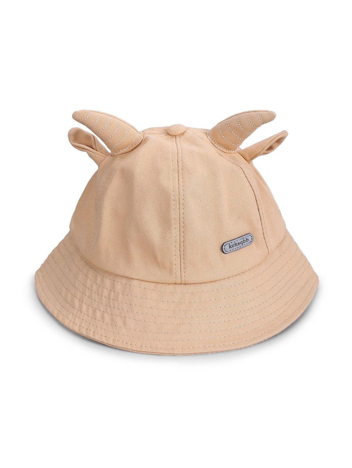 Cute Animal Ear Bucket Hats Black Light Khaki Tangerine Yellow Bucket Hat Black Animal Ears Hat Types