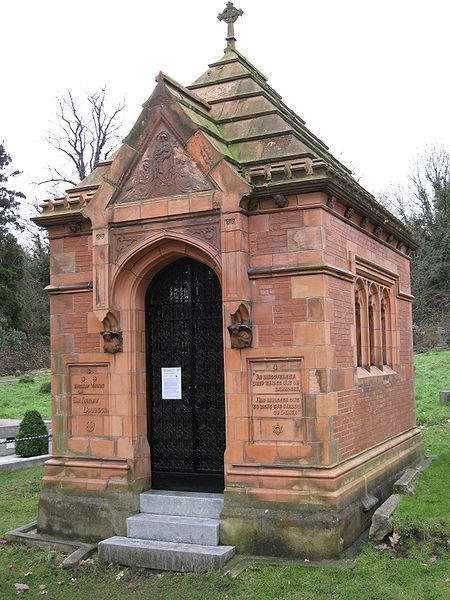 The Doulton terracotta mausoleum, listed Grade II