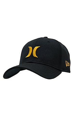 official photos 2079a a650a Hurley One   Only Black Gold Coast New Era Cap