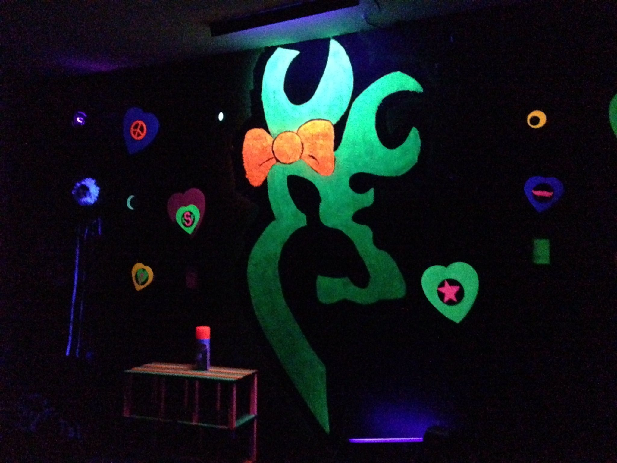 Teenage bedrooms with lights - Daughters Black Light Room Black Light Roomlight Bedroomteen