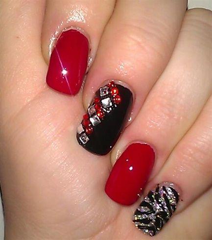 valentine's day acrylic nails  valentines day nails