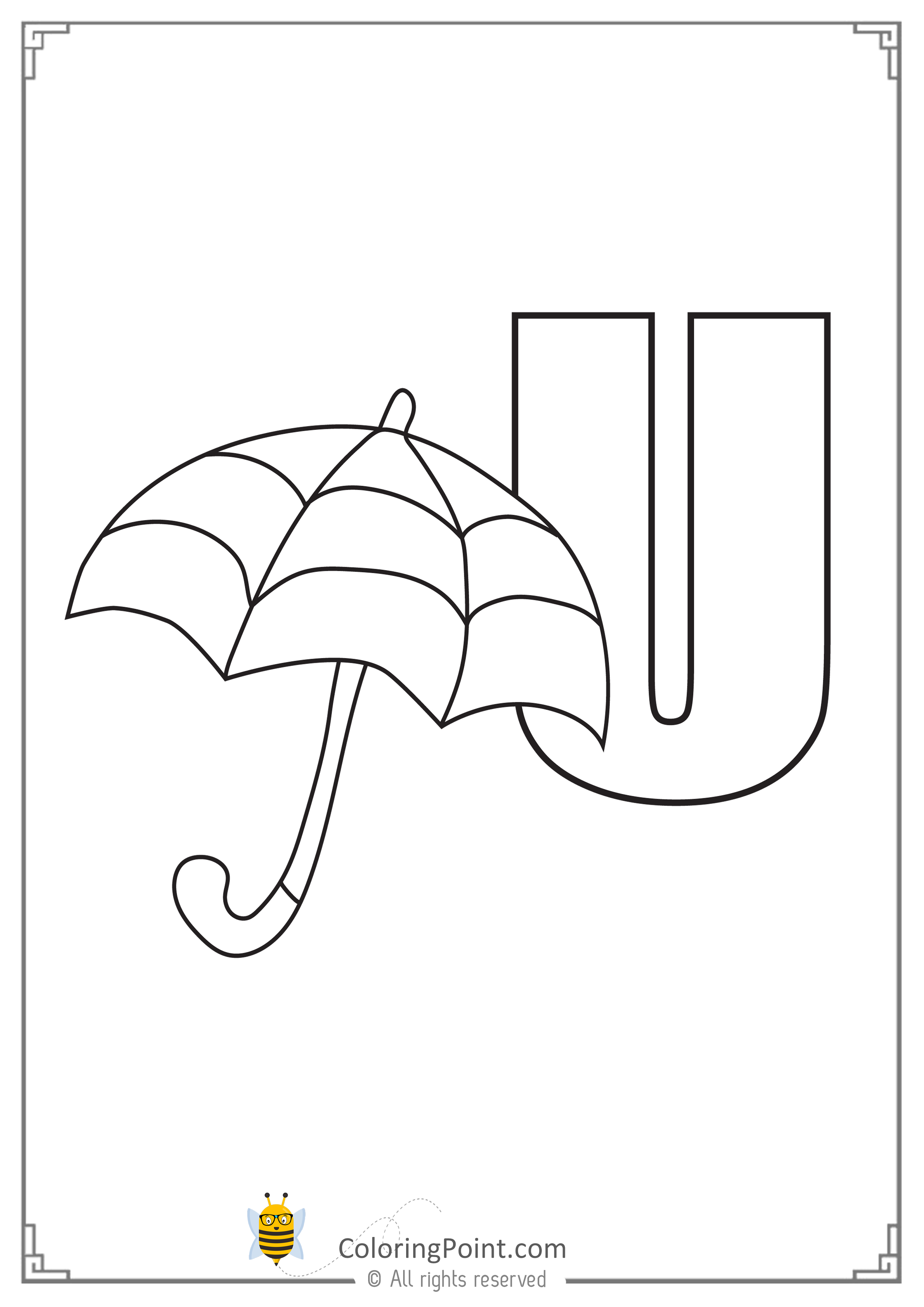 Alphabet Letter U Printable Activities Coloring Page