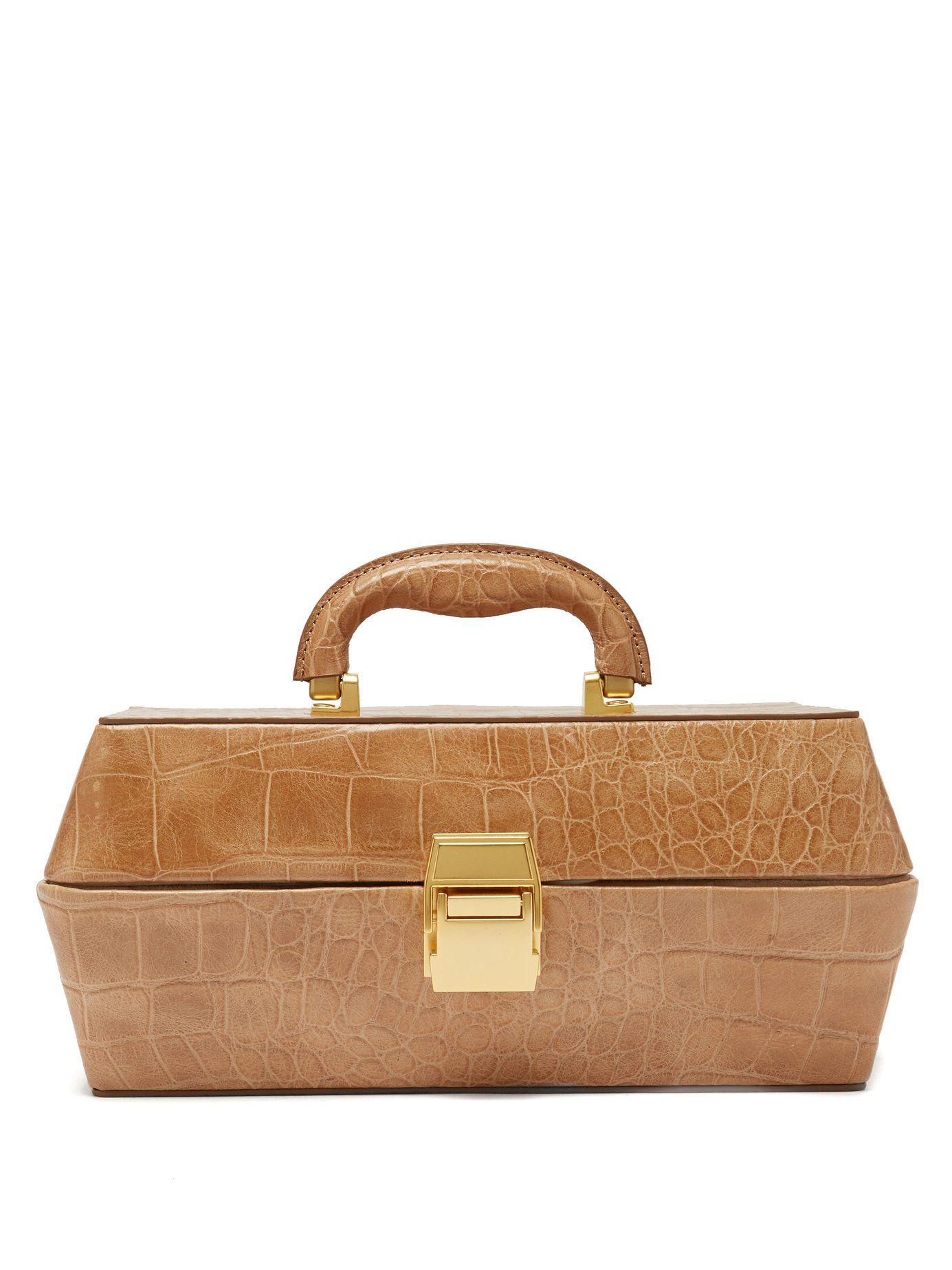 4f1ee9e706ae Lincoln crocodile-effect leather box bag