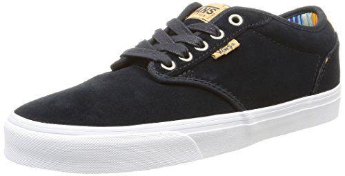 Vans M Atwood Deluxe Suede, Herren Sneakers, Schwarz  (suede/graphite/blanket · GraphiteBlanketVansSuedeSneakersBlueBlack