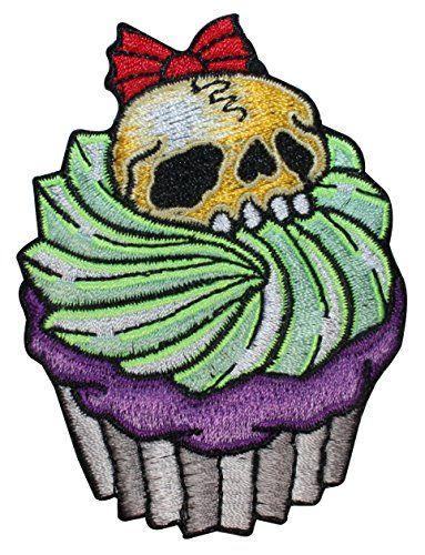 Skull Cupcake Horror Dead Food Kreepsville Embroidered Iron On Applique Patch Kreepsville 666 http://www.amazon.com/dp/B00SVWP4TG/ref=cm_sw_r_pi_dp_rUwovb09DMNCZ