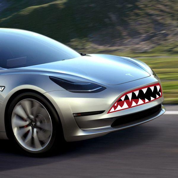 Decals For The Tesla Model 3 Front 4 Door Sports Cars Tesla