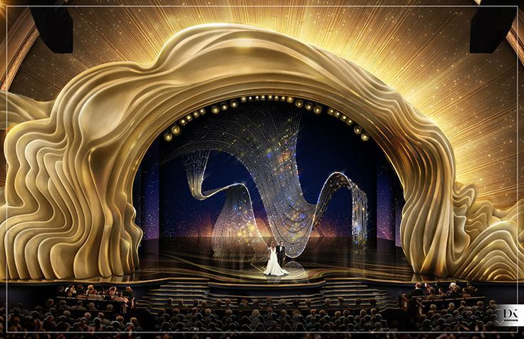 Swarovski Just Revealed a Dazzling First Look at the 91st Oscars Stage Designed by David Korins