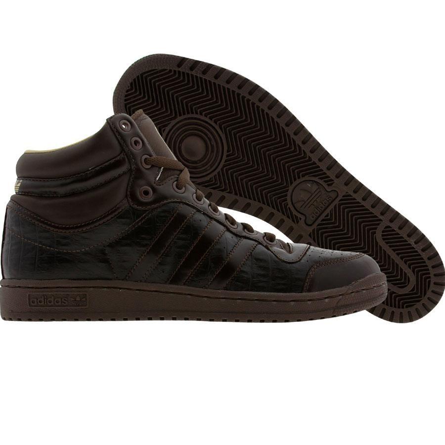 Adidas Top Ten High Crocodile Print Edition Choco Choco Storm 014243 84 99 High Top Vans Adidas Tops Adidas Shoes