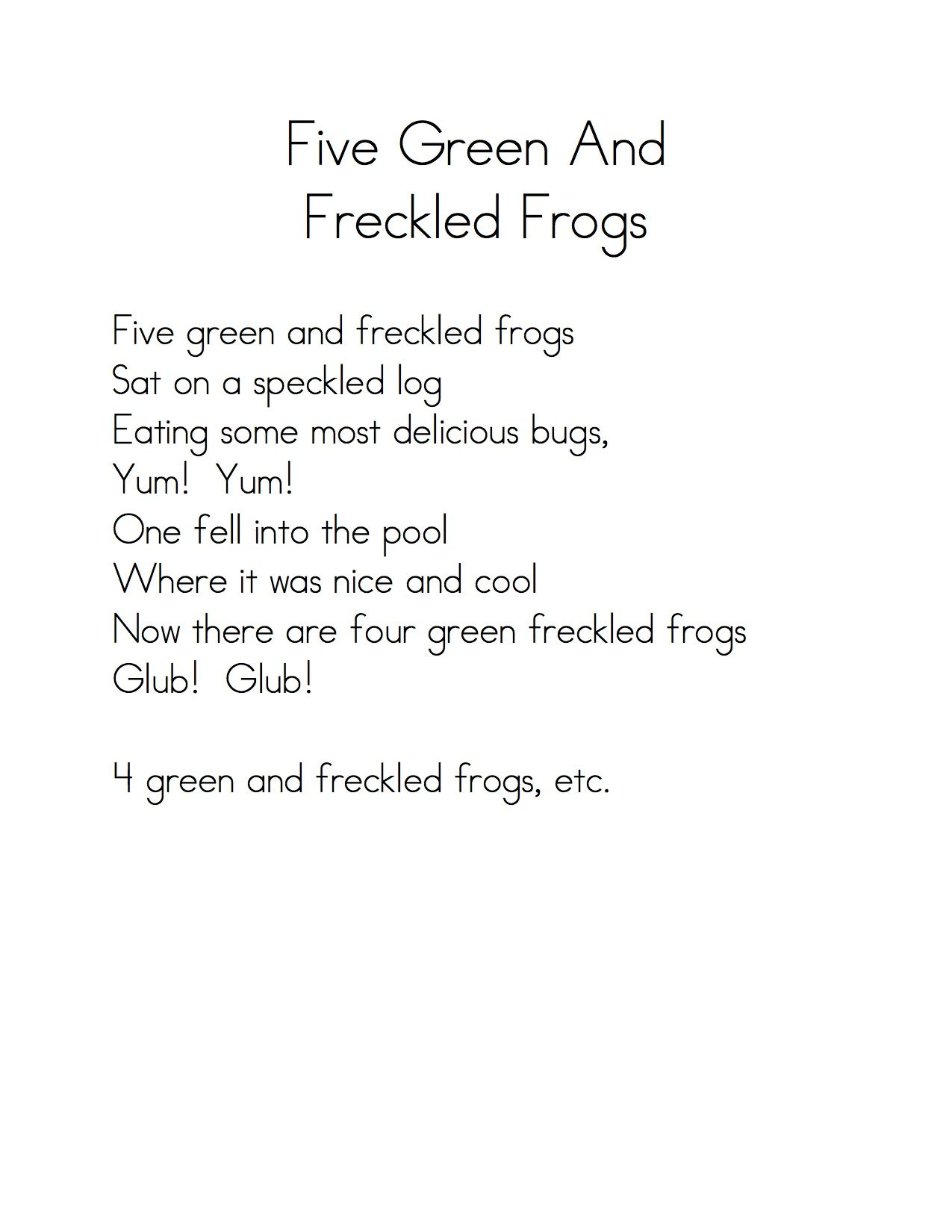 Worksheets Sat Vocabulary Worksheets poems and fingerplays youngest child worksheets five green frogs