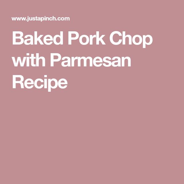Baked Pork Chop with Parmesan Recipe