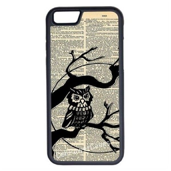 CellPowerCasesTM Vintage Owl On Tree iPhone 6 (4.7) Protective V1... (£9.11) ❤ liked on Polyvore featuring accessories, tech accessories, phone cases, tech and black