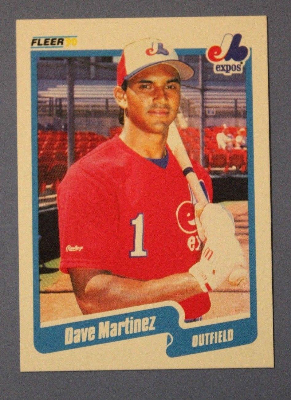 Dave Martinez 1990 Fleer Baseball 353 Rare Error Variation