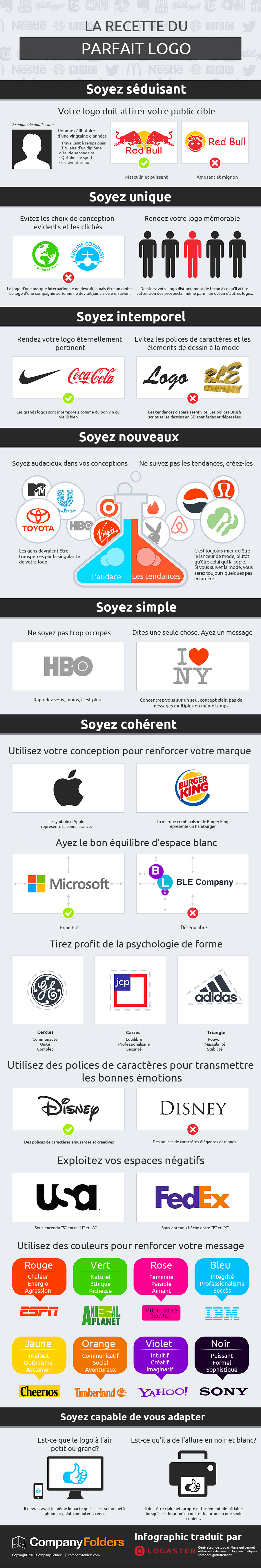 infographie  comment cr u00e9er un logo d u2019enfer   astuces et services pratiques