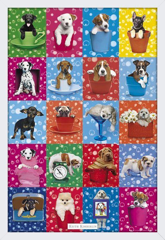 Quadro Decorativo Poster Filhotes de Cachorros Várias Raças 64x94cm -  Decore Pronto 936f915c40574