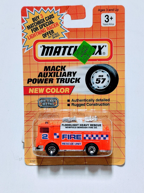 1991 Matchbox Die Cast Mack Auxiliary Power Truck Etsy Matchbox Matchbox Cars Diecast [ 3000 x 2250 Pixel ]