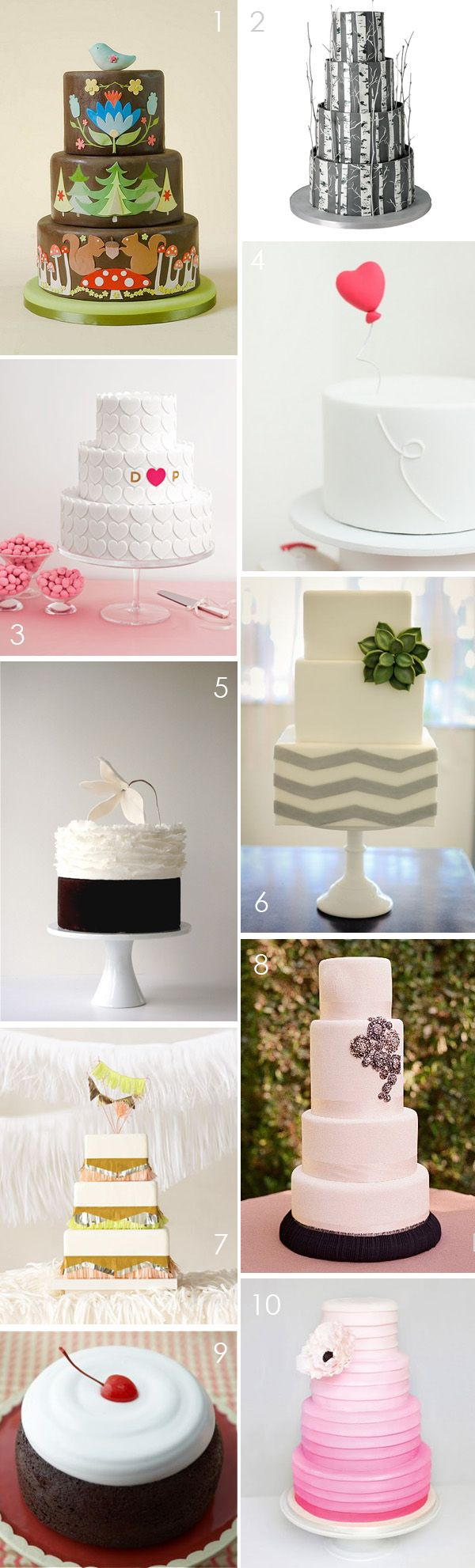 Modern wedding cakes love the simple one with the heart balloon