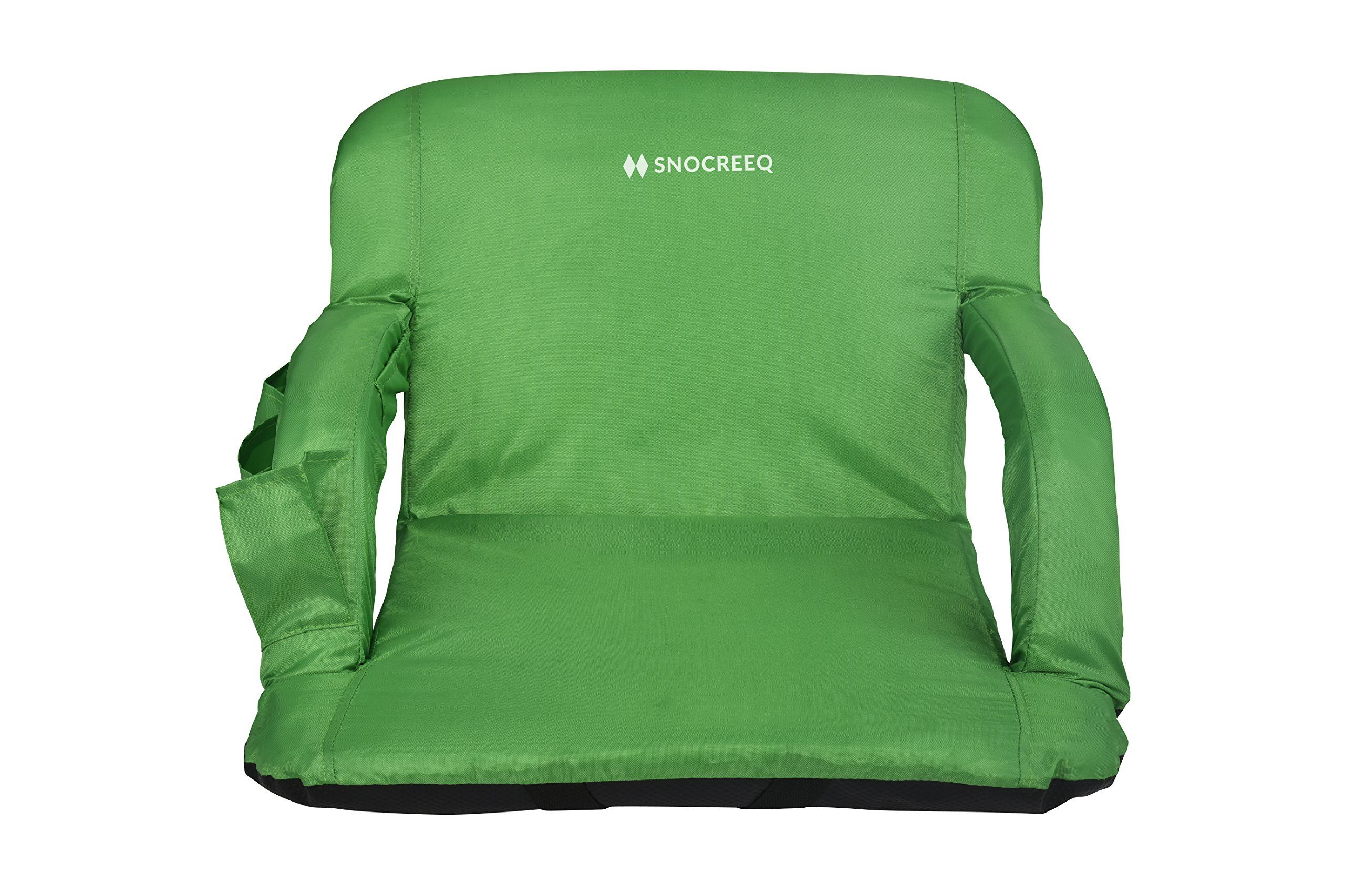 Padded Stadium Chairs Seat Cushion Bleacher Folding Portable with Arms Green