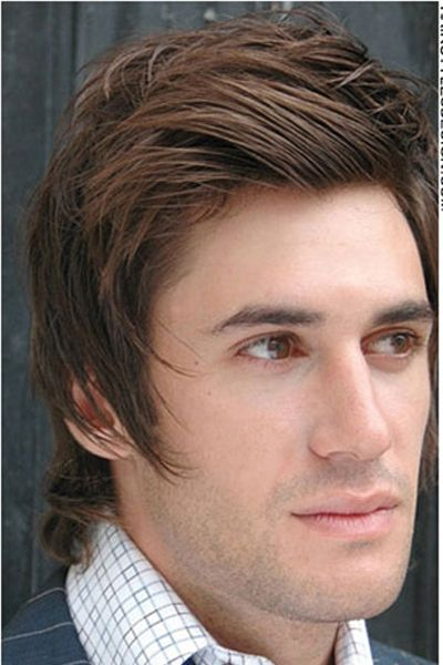 Gorgeous Comed Back Brown Hair Unnatural Hair Color Brunette Hair Color Men Hair Color