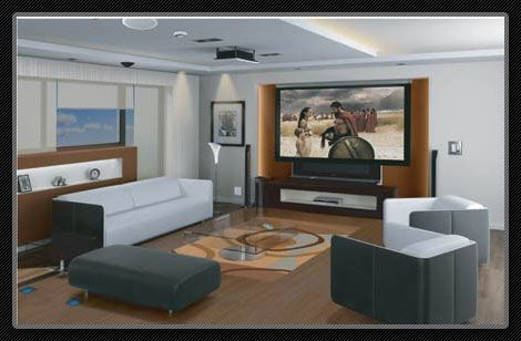 Living Room Projector Ideas