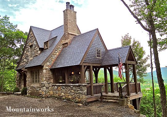 Nice small cottage cabin time pinterest small for Stone cottage house plans
