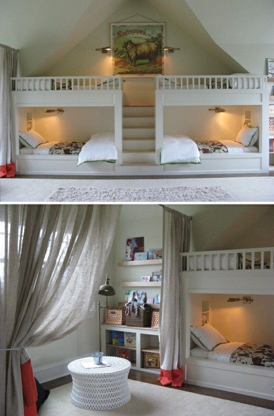 Ok Then Home Bunk Beds Built In Loft Spaces Bedroom ideas for quadruplets
