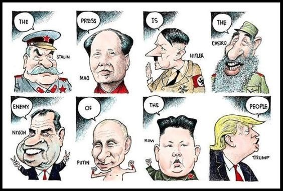 Image result for trump cartoon enemy of the people