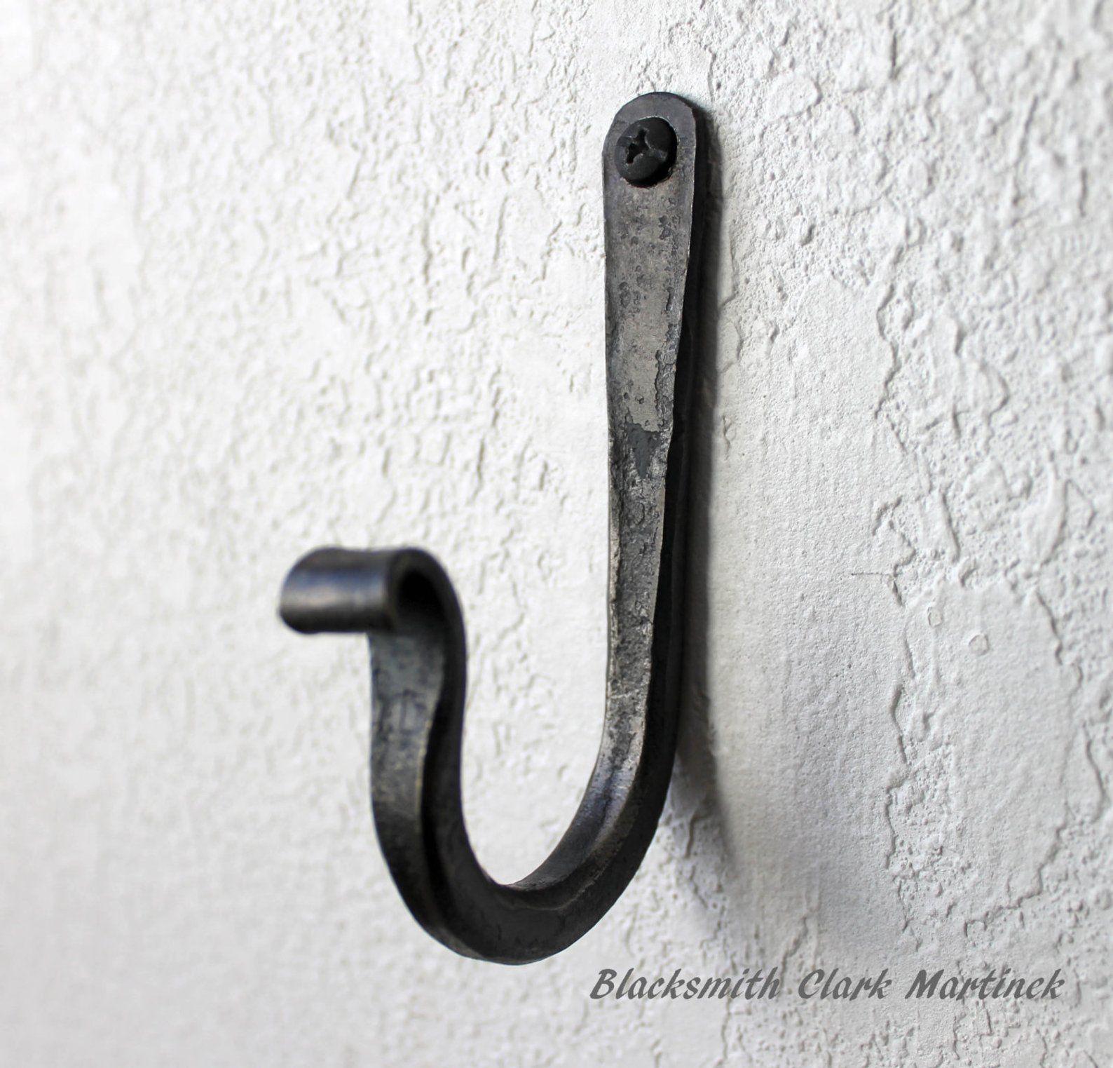 Rustic Coat Hook Towel Hook Black Metal Hook Strong Hook Iron Hook Wall Hook Black Coat Hook Iron Metal Rustic Strong Towel Towe In 2020 Metal Wall Hooks