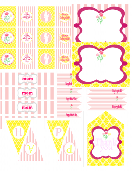 free mother 39 s day party printables from 9 to 5 mom mother 39 s father 39 s day stuff mother. Black Bedroom Furniture Sets. Home Design Ideas