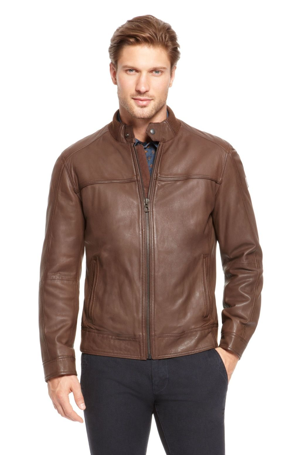 Hugo Boss 'Jacebo' Lambskin Leather Jacket. Men,