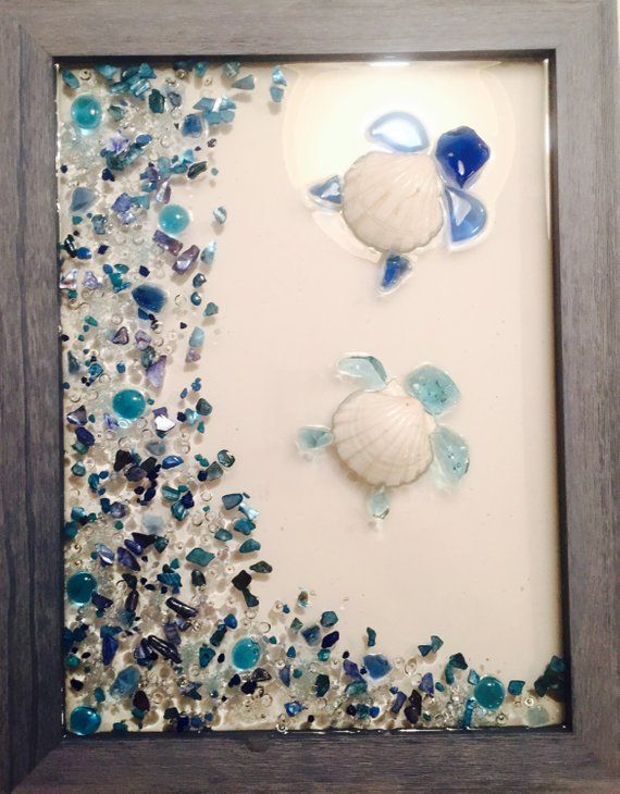 Beach Umbrella Crushed Glass Window  Wall Art Made with Crushed Stained Glass Paint and High Grade Resin!