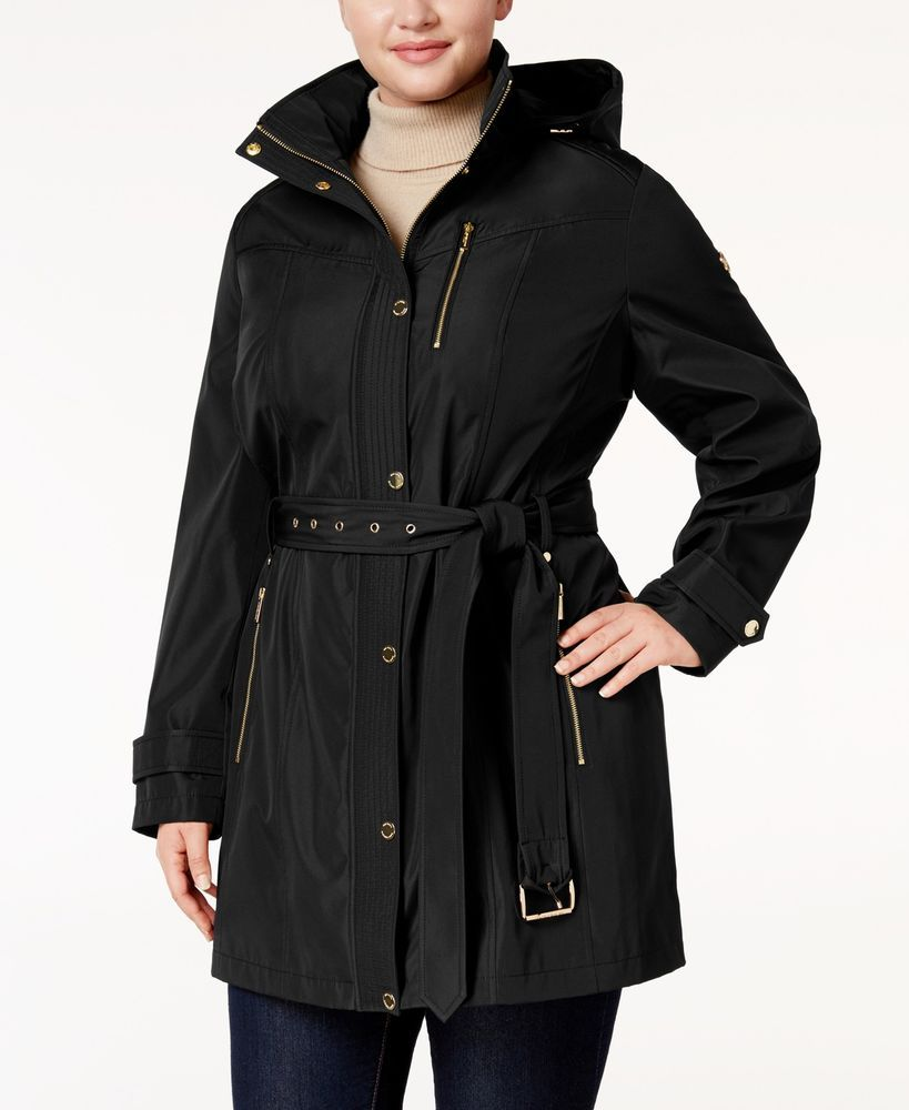 b8b2122f2a8 MICHAEL Michael Kors Plus Size Hooded Belted Raincoat NWT MSRP  220   MichaelKors  Raincoat