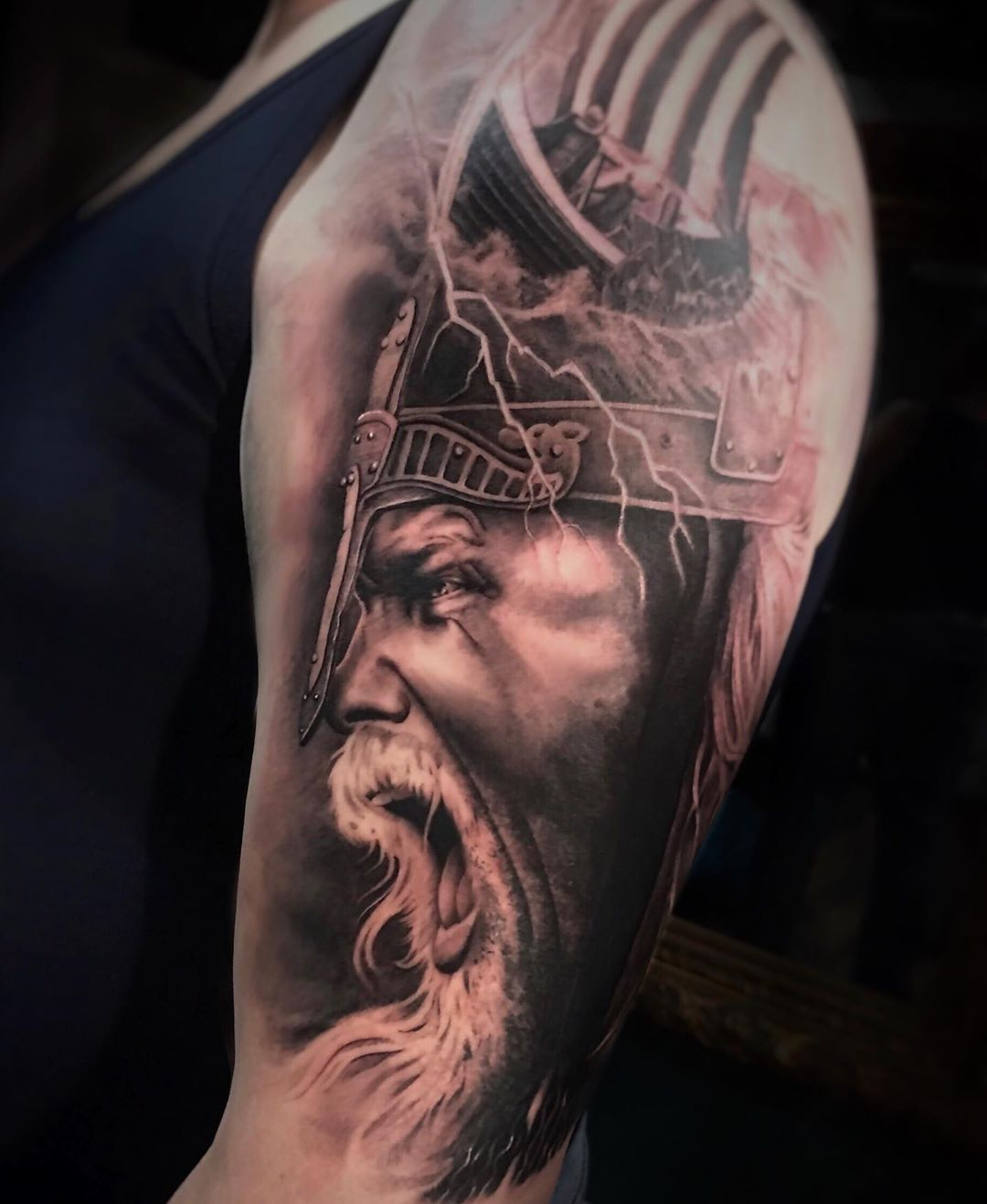 "Thore Sharpz's Instagram photo: ""•VIKING IN PROGRESS• ——————————— . . . #tattooviking #vikings #vikingstattoo #norwayvikings #vikingstyle #vikingage #vinkingskedits…"""
